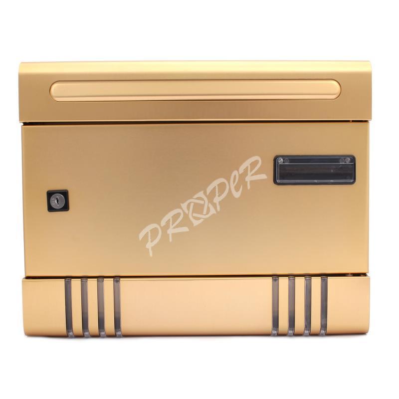 819ef7186 PROPER Schránka poštová ALUBOX zlatá